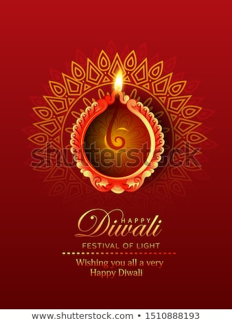 happy diwali creative diya design festival background Stock photo © SArts