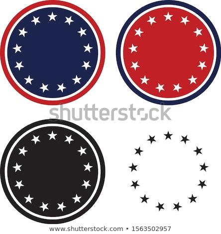 Hazafias 13 csillagok kör szett izolált Stock fotó © jeff_hobrath
