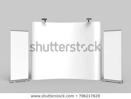 Trade show booth with banner Stock photo © montego