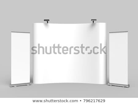 Handel zeigen Nische Banner 3D-Darstellung isoliert Stock foto © montego