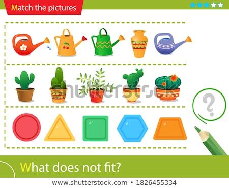 Kinderachtig vorm leren wedstrijd spel vector Stockfoto © Decorwithme