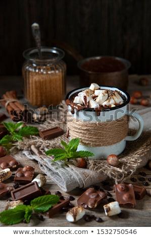 close up of jars with marshmallows Stock photo © dolgachov
