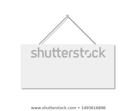 Tahta kapı imzalamak afiş poster Stok fotoğraf © FoxysGraphic