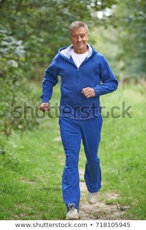 Kıdemli adam çalışma spor Stok fotoğraf © HighwayStarz