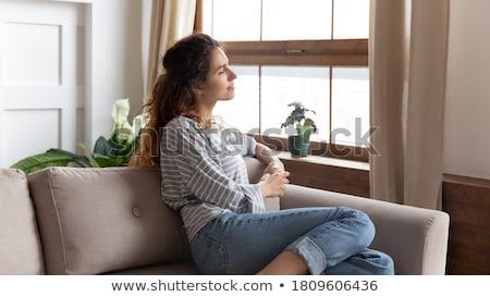 ヨガ · 瞑想 · 成熟した女性 · 魅力的な - ストックフォト © pressmaster