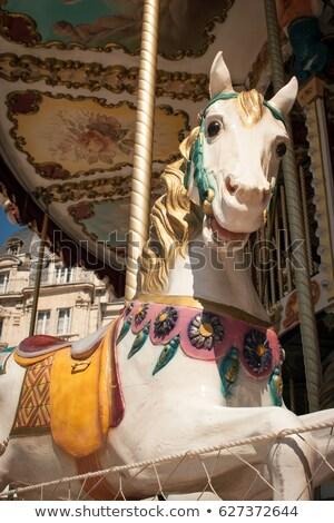 細部 回転木馬 馬 子供 夏 旅行 ストックフォト © feverpitch