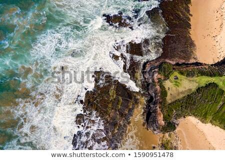 Steil strand beneden water textuur abstract Stockfoto © lovleah