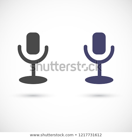 Podcast radio communie vector mobiele Stockfoto © pikepicture