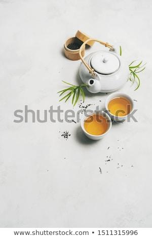 Japonais thé baguettes pierre table Photo stock © karandaev