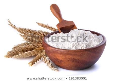 Kenyér búza liszt főzés kellékek kő Stock fotó © karandaev