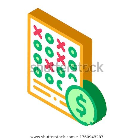 Arkusza hazardu ikona wektora Zdjęcia stock © pikepicture