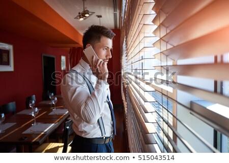 Porträt gut aussehend jungen männlich Chef eleganten Stock foto © vkstudio