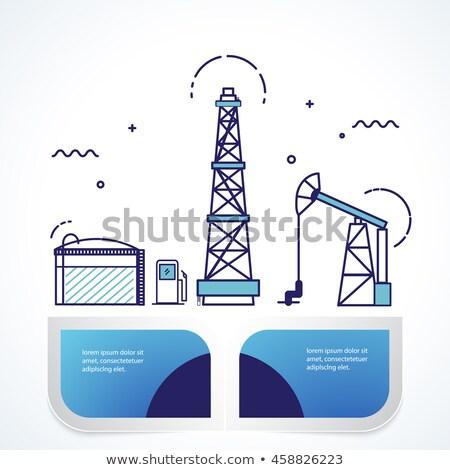 Nuclear energia aterrissagem página engenheiros trabalhando Foto stock © RAStudio