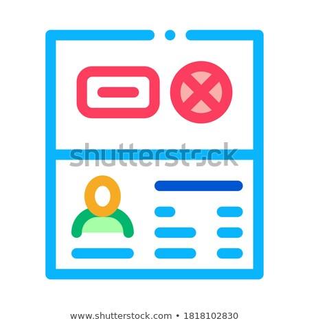 Paspoort ontkenning icon vector schets illustratie Stockfoto © pikepicture