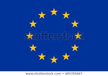 Európai szövetség zászló fehér világ felirat Stock fotó © butenkow