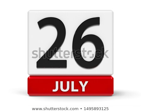Simple black calendar icon with 6 july date isolated on white Stock photo © evgeny89