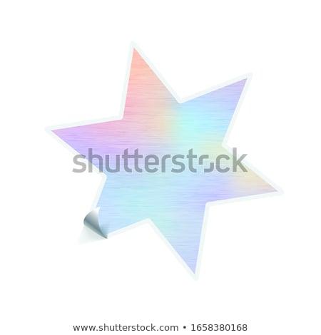 Heldere modieus sticker star vorm hologram Stockfoto © evgeny89