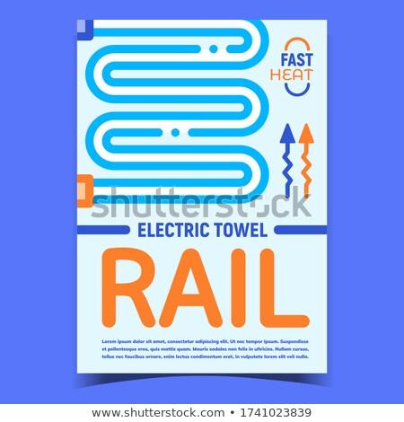 Eléctrica toalla rail radiador promoción anunciante Foto stock © pikepicture