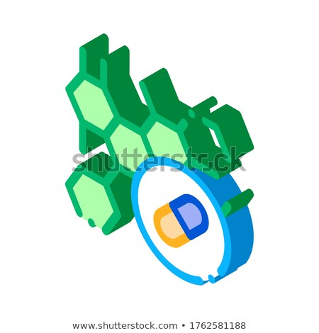 Hatás drogok test kiegészítők izometrikus ikon Stock fotó © pikepicture