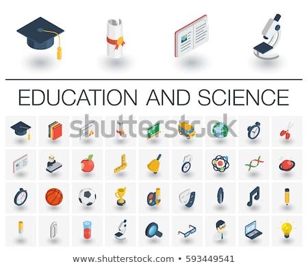 Chemia ukończeniu izometryczny ikona wektora podpisania Zdjęcia stock © pikepicture