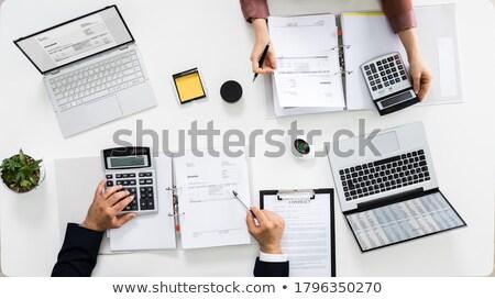 Auditors Calculating Corporate Invoicing Stock photo © AndreyPopov