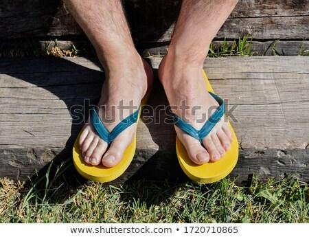 nyár · férfias · cipők · csetepaté · színes · polc - stock fotó © pressmaster