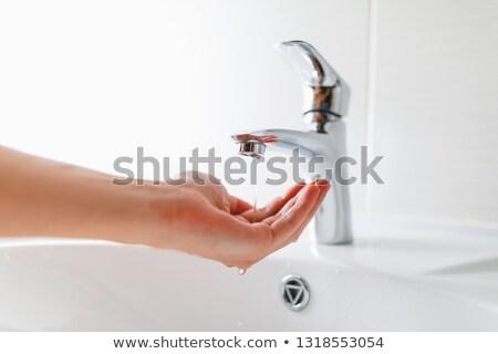 vízcsap · izolált · vadvízi · csap · fehér · víz - stock fotó © timbrk