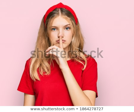 young fresh girl hushing stock photo © ilolab