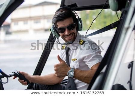śmigłowca kabina pilota dwa zdjęcia jeden pionowy Zdjęcia stock © deyangeorgiev
