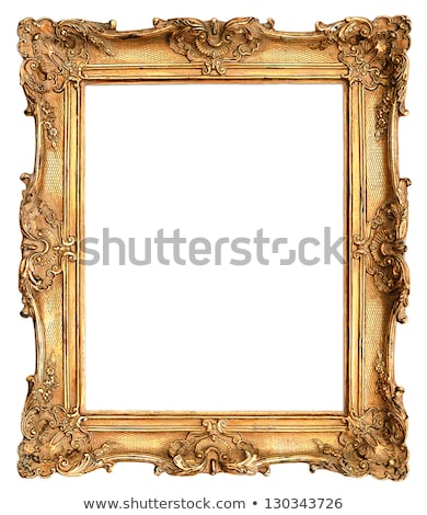 Old Picture Frame On Gold Wall Stock photo © adamr