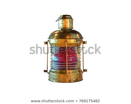 Oude lantaarn schip brand olie vuurtoren Stockfoto © premiere