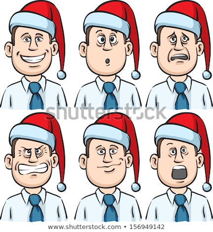Many faces grimace businessman Stock photo © Paha_L