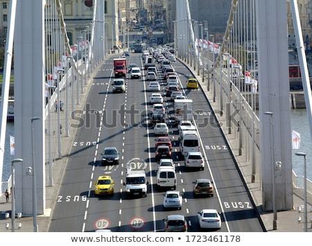 híd · Budapest · Magyarország · kilátás · épület · utazás - stock fotó © vladacanon