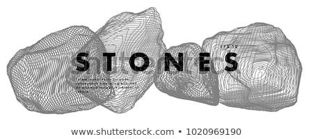 Abstract rock schaduw lichten steen Stockfoto © premiere