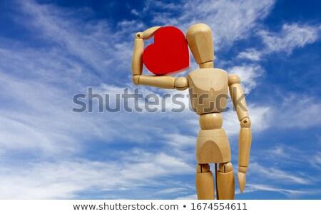 Manequim coração vermelho cinza Foto stock © eyeidea