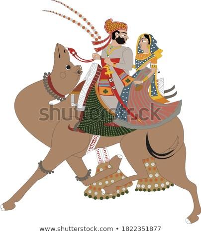 the men who ride a camel stock photo © tsuneomp