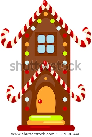Vector Christmas card - ginger breads with white icing Stock photo © orson