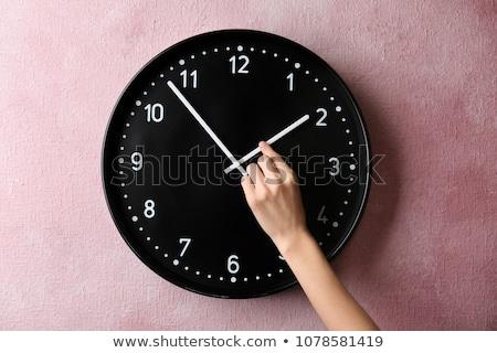 tiempo · cambio · escrito · tiza · pizarra · fondo - foto stock © bbbar