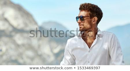 Forró üzletember portré elegáns fiatal fehér Stock fotó © curaphotography