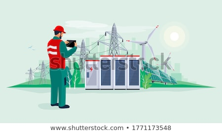 Man repairing electrical panel Stock photo © photography33