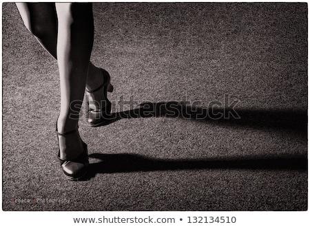 Сток-фото: старые · моде · фото · женщину · обувь · деньги