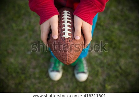 Enfant ballon de rugby enfants sport balle exercice Photo stock © photography33