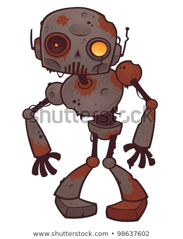 Arrugginito zombie robot vettore cartoon illustrazione Foto d'archivio © fizzgig