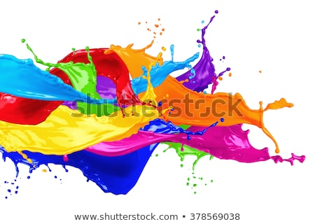 Verf spatten spectrum ontwerp achtergrond kunst Stockfoto © vkraskouski