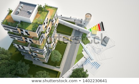 здании диаграммы простой деньги домой Сток-фото © gant