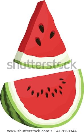 melancia · fruto · folha · isolado · branco · comida - foto stock © stevemc
