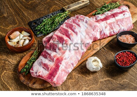 Butcher with a rack of ribs stock photo © photography33