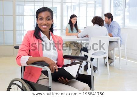 pessoa · cadeira · de · rodas · branco · homem · médico · saúde - foto stock © photography33