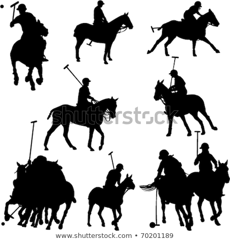 Polo sulhouettes set Stock photo © Kaludov