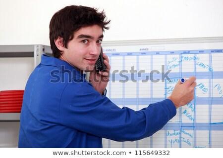 randevu · adam · mavi · büro · işçi - stok fotoğraf © photography33